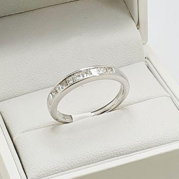 Beautiful princess cutwedding band, stack it or wedding band, a very versatile  Princess Cut Diamond half eternity ring