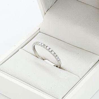 18k white Gold new half eternity band, Sydney wedding jewellery