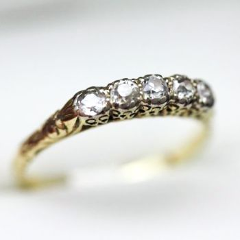 Antique ring engagement ring handmade wedding band with Old Mine Cut Diamonds, antique ring, Gay wedding bands, lesbian engagement rings, same sex marriage wedding rings, gay friendly jewellers