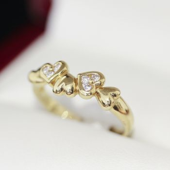 18k Gold Rings with Emerald