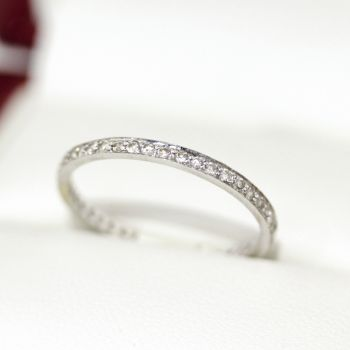 Vintage Platinum Diamond Full circle Eternity ring, wedding band