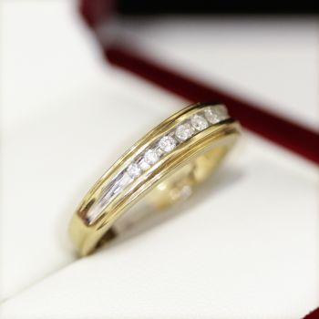 Vintage diamond wedding band or Eternity band