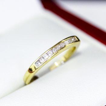 Princess cut Diamond engagement ring, half eternity or wedding band.