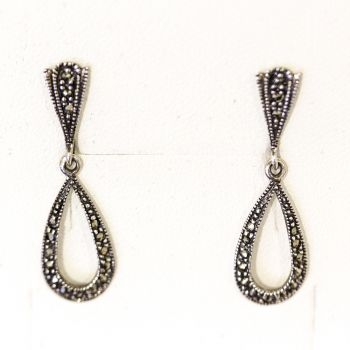 Lovely vintage style marcasite drop earrings