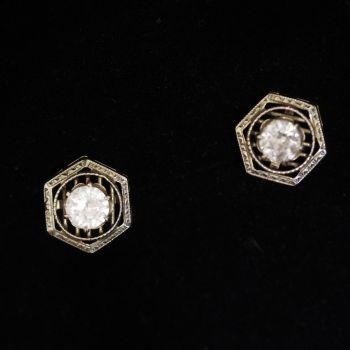 antique Diamond and Topaz earrings