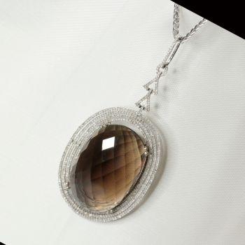 Vintage Pendants, Antique Necklaces, Statement Necklace, Statement Jewellery, Red Carpet Jewellery, Diamond Necklace, Smokey Quartz Jewellery, Sydney Jewelley