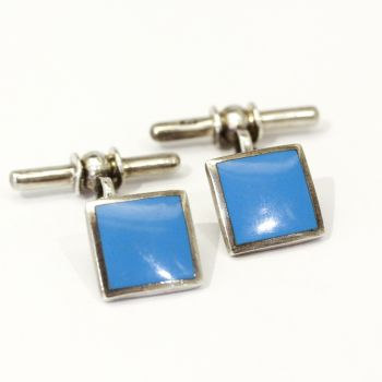 New Sterling silver  and Turquoise square cufflinks