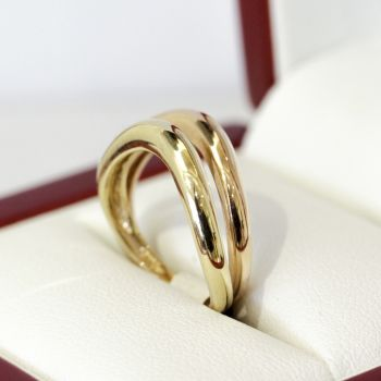 14ct yellow and rose gold, 2 ring set.