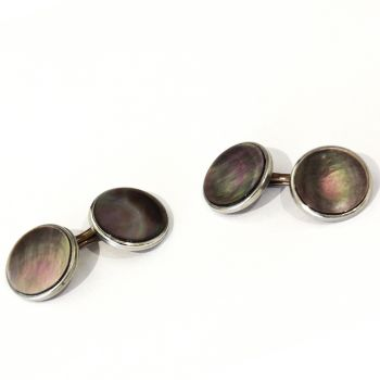 Vintage Abalone double sided cufflinks