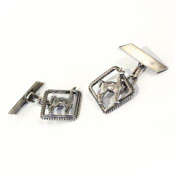 Vintage silver Peruvian cufflinks