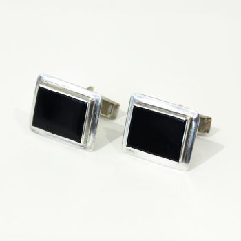 Vintage rectangular Onyx cufflinks