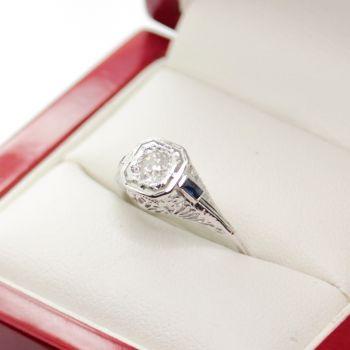 Antique Engagement Rings, Old European Cut Diamond Ring