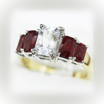 Vintage engagement ring with Ruby