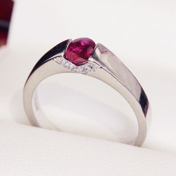 Really beautiful, Platinum Ruby Engagement Ring, Unique Engagement Ring