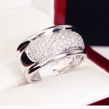 White Gold and Diamond wedding or eternity ring