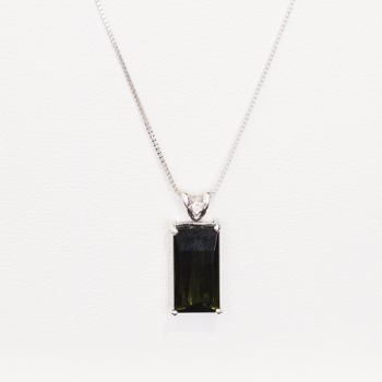 tourmaline and diamond white gold necklace