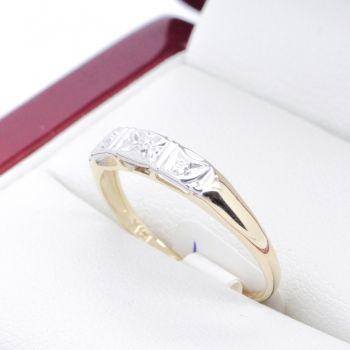 Yellow Gold Sapphire Art Deco rings