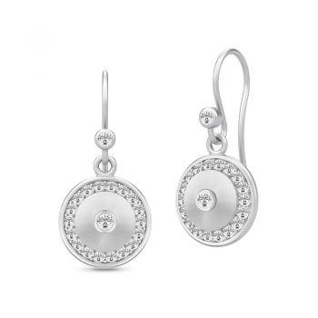 Lovely Glow drop earrings in silver