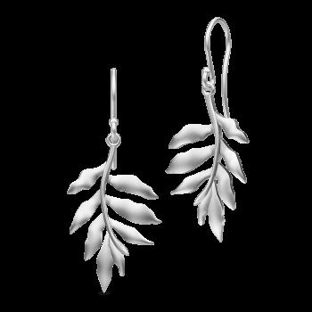 Stunning silver Tree of Life leaf earrings