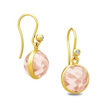 Gorgeous Sweet Pea drop earrings with faceted Morganite stones