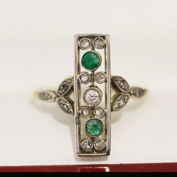 Emerald ring, Diamond ring