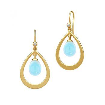 Julie Sandlau blue droplet earrings