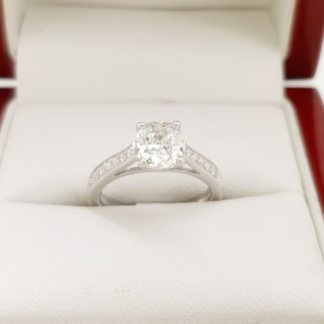 Engagement ring in 18ct white gold with a 1.20ct Diamond