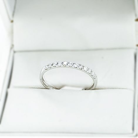 18k white Gold new half eternity band, Sydney wedding jewellery