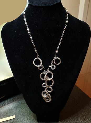 Estate Age White Gold necklace