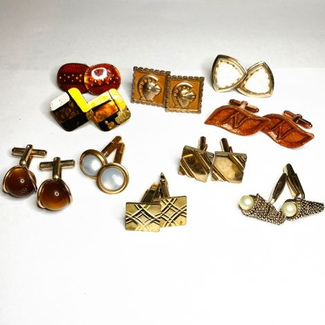 10 Pack of Mixed Colour Metal Cufflinks