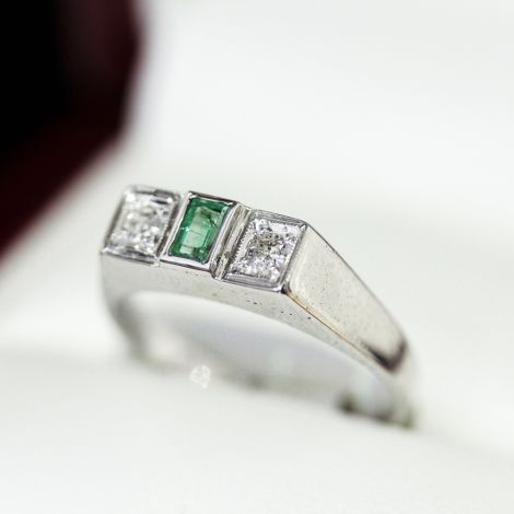 Diamond ring, Sapphire ring