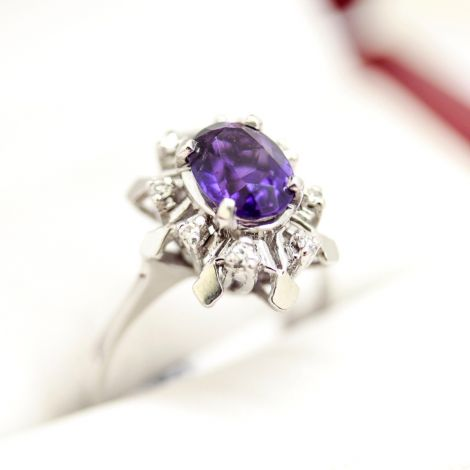Amethyst and Diamond ring, estate jewellery sydney, same sex marriage