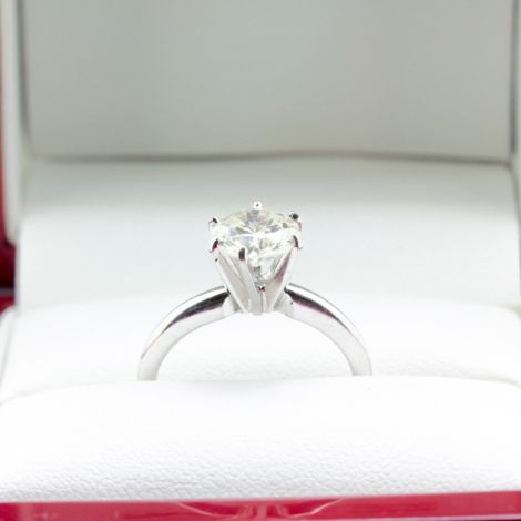 Solitaire Ring, Sydney Vintage Engagement Rings, Solitaire Engagement ring, White Gold Solitaire Engagement Ring, Antique Jewellery Sydney, Vintage Jewellery Sydney, Estate Jewellery Sydney,