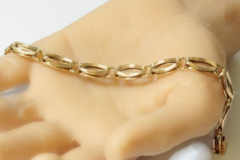 Estate Jewellery Sydney, Antique Bracelet, Vintage Bracelet, Yellow Gold Link Bracelet, Estate Jewellery Sydney