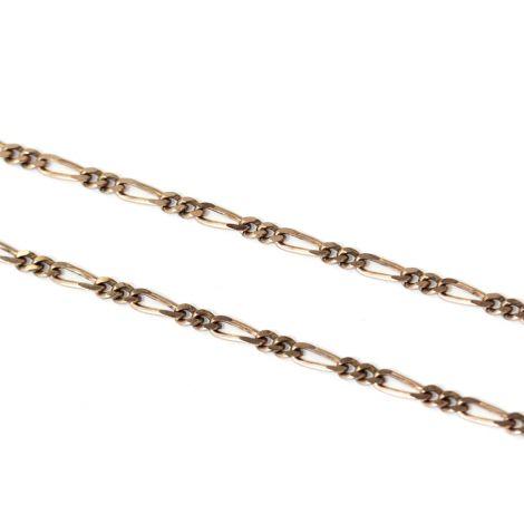 Classic Vintage Long 9ct Rose Gold Necklace, C1940's
