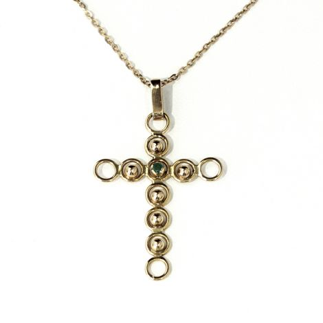 Vintage 18ct gold cross pendant, great gift.