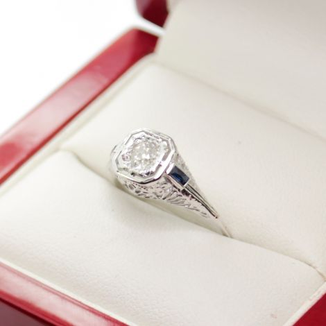 Antique Engagement Rings, Old European Cut Diamond Ring