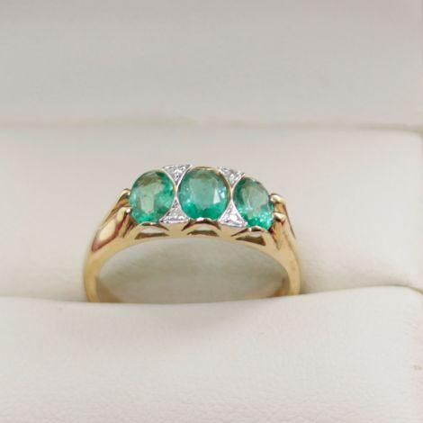 Vintage Emerald Ring Rozelle