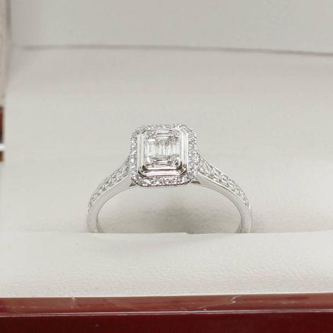 Antique Jewellery Sydney, Estate Jewellery, Antique Engagement Ring, Vintage Diamond Ring, Vintage Inspired Engagement Ring, White Gold Diamond Ring, Diamond Ring,  Engagement Ring, Baguette Diamond Ring,