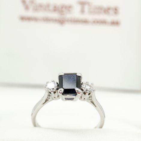 Rozelle Vintage Rings, Sapphire Rings, Vintage Sapphire Rings, White Gold Sapphire Rings, Sydney Vintage Jewellery, Antique Jewellery Sydney, Vintage Rings, Estate Jewellery, Vintage Jewellery Sydney, Antique Vintage rings,