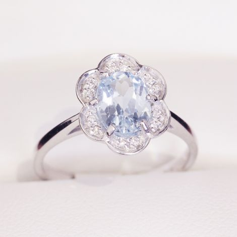Diamond Engagement or Cocktail Floral cluster ring