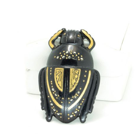 Antique Art Deco Egyptian Revival Beetle Bug Bakelite Brooch