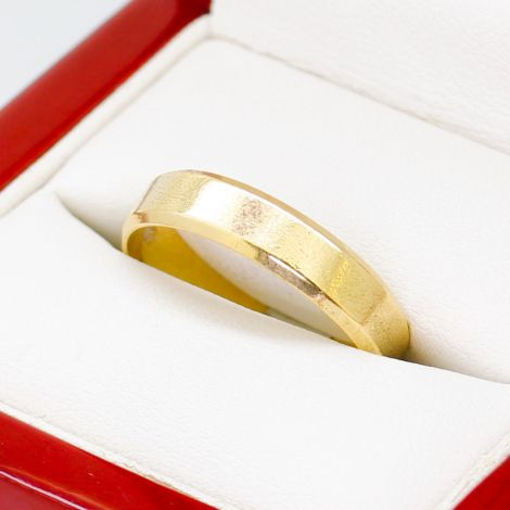 Men's Wedding Band, Gold Ring, Sustainable Jewelry, Textured Ring, Engraved Textured Ring