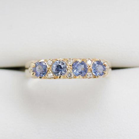 Vintage Jewellery Sydney, Sapphire Diamond Ring, Rozelle Vintage Jewellery, Hand Made Jewellery, Blue Sapphire Ring, Diamond Ring, Yellow Gold Sapphire Ring,