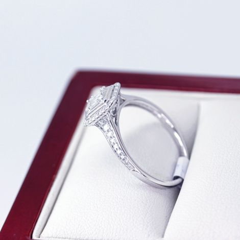 Baguette Diamond Ring, Antique Jewellery Sydney, Estate Jewellery, Antique Engagement Ring, Vintage Diamond Ring, Vintage Inspired Engagement Ring, White Gold Diamond Ring, Diamond Ring, Engagement Ring,