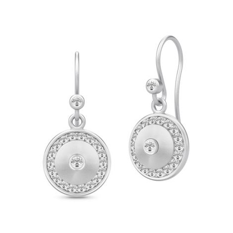Lovely Glow drop earrings in silver