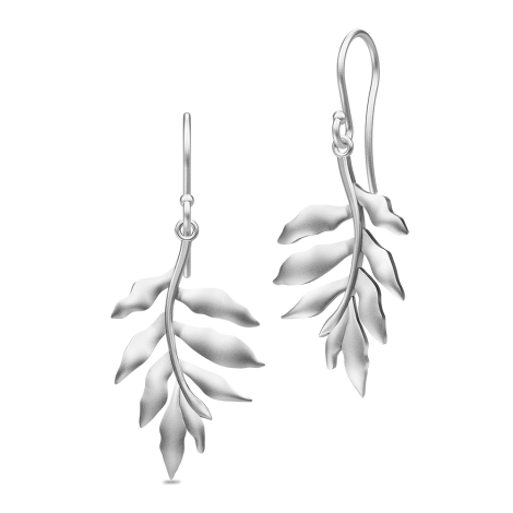 Stunning silver Tree of Life leaf earrings