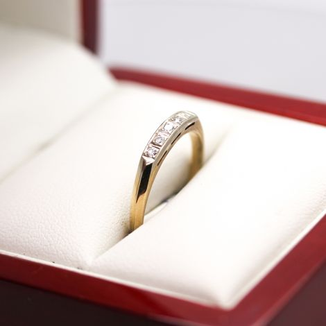 Vintage Wedding Band, matching engagement ring available, Art Deco Yellow Gold band