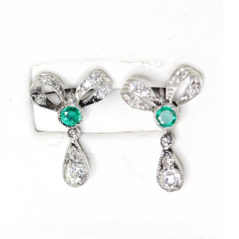 antique emerald earrings vintage Jewellery