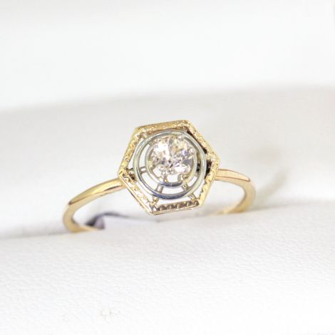 Beautiful, petite, Art Deco Engagement Ring or Dress Ring, elegant, understated, really lovely